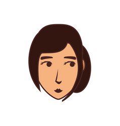 head of young woman avatar character vector image