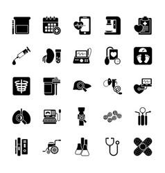 Health checkup glyph icons vector