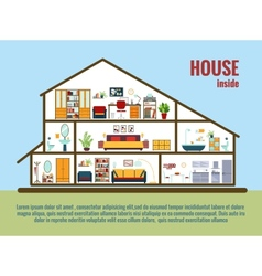 house interior vector image