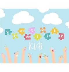 Kids creativity vector image