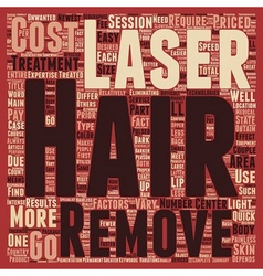 Laser Hair Removal Cost main factors text vector image