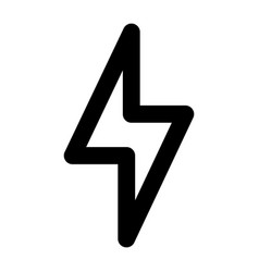 light power icon outline style vector image