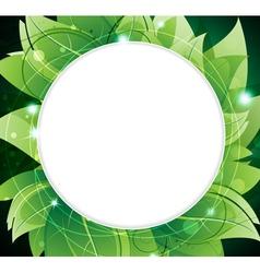 Lush foliage frame vector
