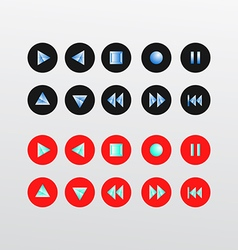 Media Player Icons set basic vector