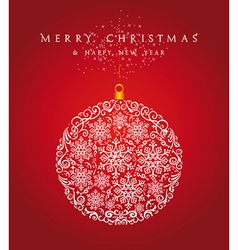 Merry Christmas bauble background EPS10 file vector