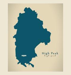 Modern map - high peak district uk vector