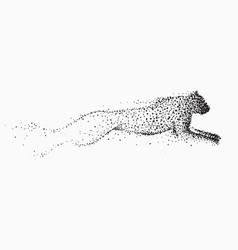Movement leopard made points vector