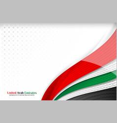 National flag united arab emirates background vector