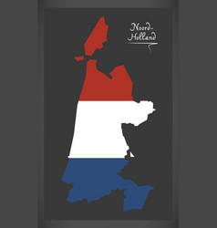 noord-holland netherlands map vector image