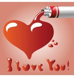 oil paint heart vector image