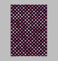 Pink pentagram star shape pattern background vector