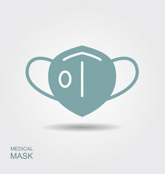 Protection face mask with flap flat icon vector
