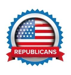Republicans election badge vector image