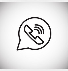ringing phone answer thin line on white background vector image
