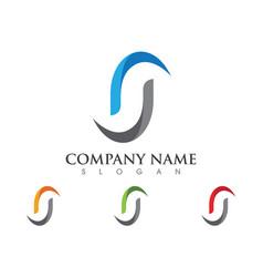 S letter logo icon design template vector