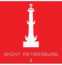 Saint Petersburg Rostral column line art vector