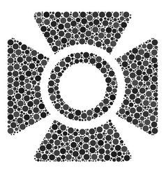 Searchlight collage of filled circles vector