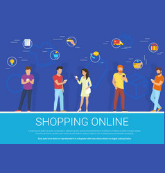 Shopping online concept of vector