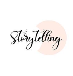 Storytelling word handwritten with custom vector