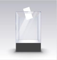 Transparent glass box ballot vote election empty vector