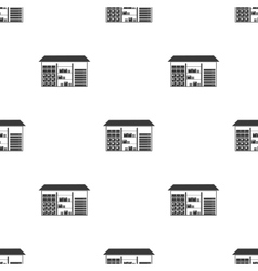 Warehouse icon in black style isolated on white vector
