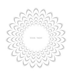 White stylized flower vector