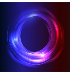 Blue Business Abstract Circle icon vector image