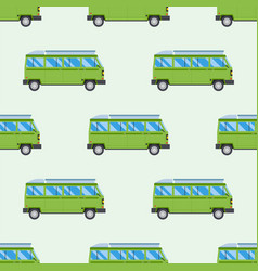 Campers vacation travel car summer seamless vector