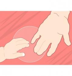 cartoon hands vector image vector image