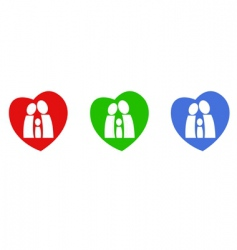 family hearts vector image vector image