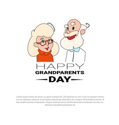 happy grandparents day greeting card banner with vector image vector image