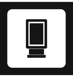 Lightbox icon in simple style vector image
