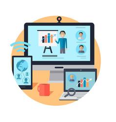 online seminar distance work webinar vector image vector image