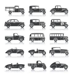 Retro Cars Set vector image vector image