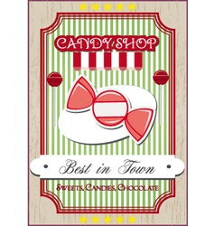 candy shop poster vector image vector image