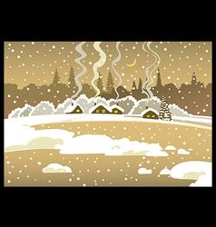 Evening Winter landscape vector image