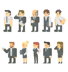 Flat design of business people set vector image vector image