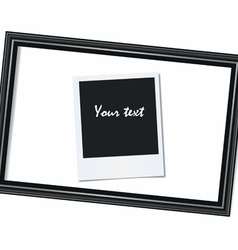 Portrait frame and photo on a white background vector image