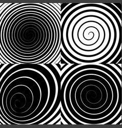 psychedelic spiral with radial rays swirl vector image