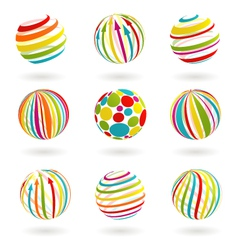 Color planet icons vector image vector image