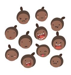 emoji black girl emotions vector image vector image