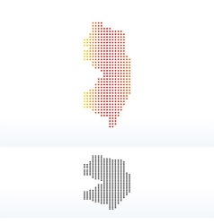 Map of USA New Jersey State with Dot Pattern vector image