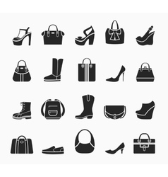 Women bags and shoes vector image vector image