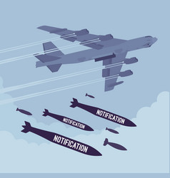 bomber and notification bombing vector image