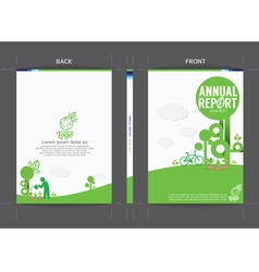 Green Cover Template vector image