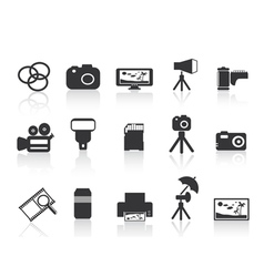 photography element icon vector image