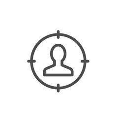 Recruitment line icon vector