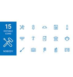 15 nobody icons vector