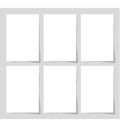6 pieces blank A4 sheet of white paper with the vector