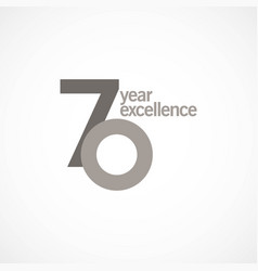 70 year anniversary excellence template design vector image